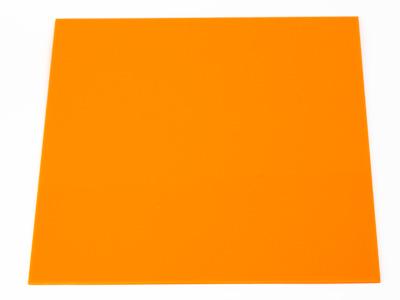 Лист акрилового стекла оранжевого Альтуглас 300х300х3мм