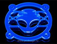 Лист оргстекла флуоресцентного синего 300х325х3мм светится в УФ