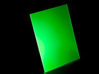 Обрезок оргстекла УФ зеленого толщиной 3 мм примерно 300х200мм