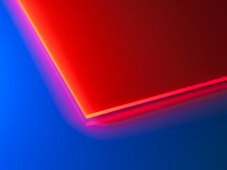 Обрезок оргстекла УФ красного толщиной 3 мм примерно 300х220мм