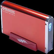 Внешн  контейнер для HDD   Alu book2  3 5   RUBY RED