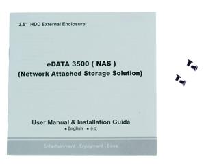 Внешн   контейнер e DATA 3500 NAS для HDD 3 5    SATA USB2 0  RJ 45  черный
