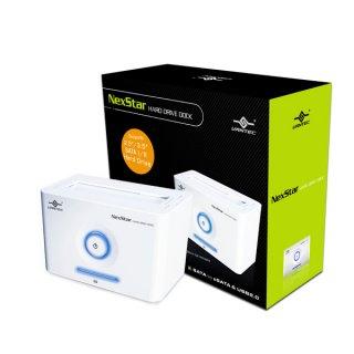 Док станция Vantec NST D100SU белая для подключ  HDD 2 5   3 5 SATA  eSATA