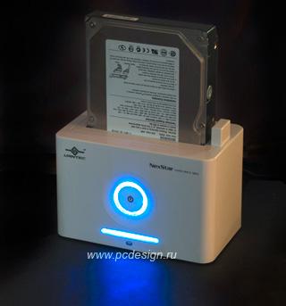 Док станция Vantec NexStar NST D100 S2 для подключ  HDD 2 5   3 5 SATA  белая