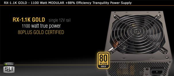 Модульный блок питания тихий 1100 Вт Nexus RX 1 1K GOLD 1100 Watt