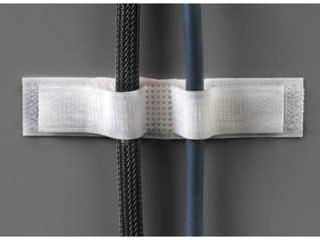 Крепежная липучка для кабеля 20х100мм самоклеющаяся HAMA  белая 1шт   H 20541