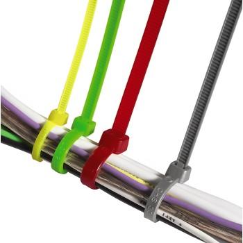 Набор разноцветных стяжек  для кабеля 150шт  3 размера  свет  в УФ  HAMA 20621