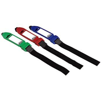 Стяжки для кабеля на липучке с этикеткой  200 мм  3 шт   разноцветн   Hama 20635