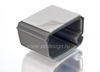 Крепеж для кабеля пластиковый  самоклеющийся  серебрист  1шт   HAMA 20588