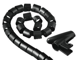 Набор для легкой уборки   кабелей   Easy Cover   30мм  1 5 м  черн  H 20603