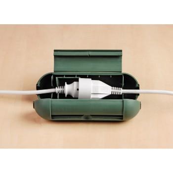 Защитный бокс для кабеля зеленый Hama 20612