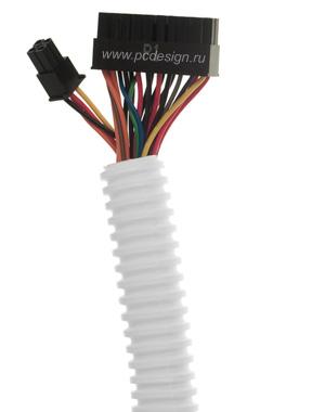 Трубка гибкая  для уборки кабелей белая  диам  20 25 мм  2м  Hama 20633