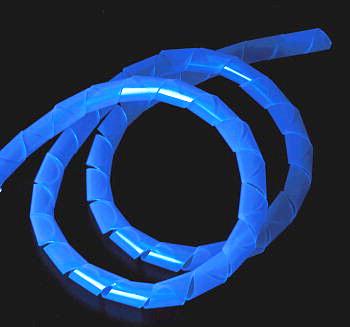 Оплетка спиральная 12 мм синяя  1м  светится в УФ