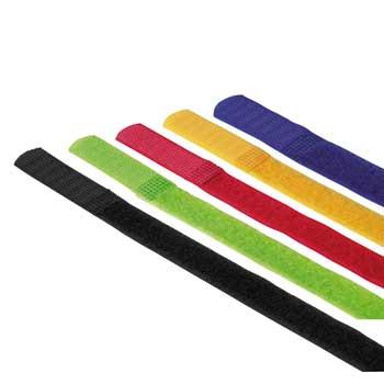 Стяжки для кабеля на липучке 215 мм   5 шт   разноцветные  Hama 20535