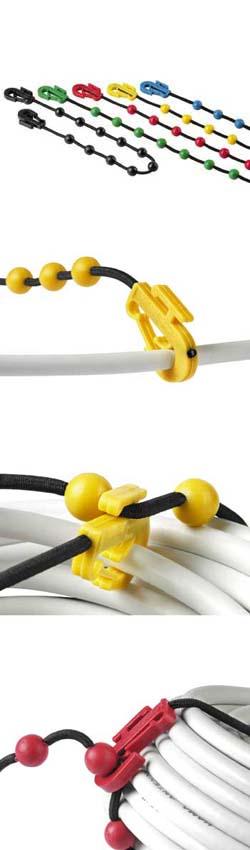 Стяжки для кабеля эластичные Жемчуг 360 мм 5 штук HAMA H 20553