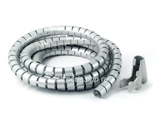 Набор для легкой уборки   кабелей   Easy Cover   20мм  2 5 м  серебрист  H 20600