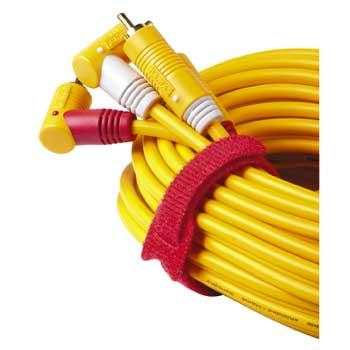 Набор стяжек для кабеля на липучке 145 мм  12 шт   черн  крас  син  Hama 20536