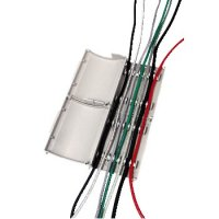 Мини канал серебристый для прокладки кабелей 120x38x95мм  2шт  H 20615