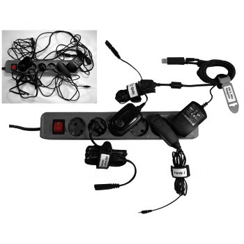 Стяжки для кабеля на липучке с этикеткой  200 мм  3 шт   черные   Hama 20634