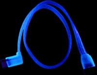 S ATA кабель  50 см  цвет   синий  светится в у ф
