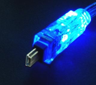 Кабель USB 2 0  длина 180 см    AM MINI5P  с неоновым шнуром  синий