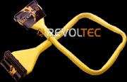 Для дисковода закруглен шлейф Revoltec  48 см  цвет   желтый