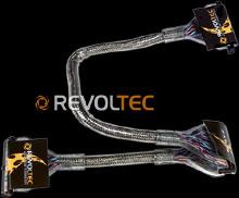 Закруглен шлейф Revoltec  3 коннект   48 см  цвет   серебристый