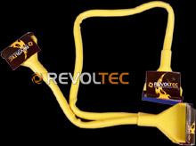 IDE шлейф Revoltec  3 коннект   48 см  цвет   желтый