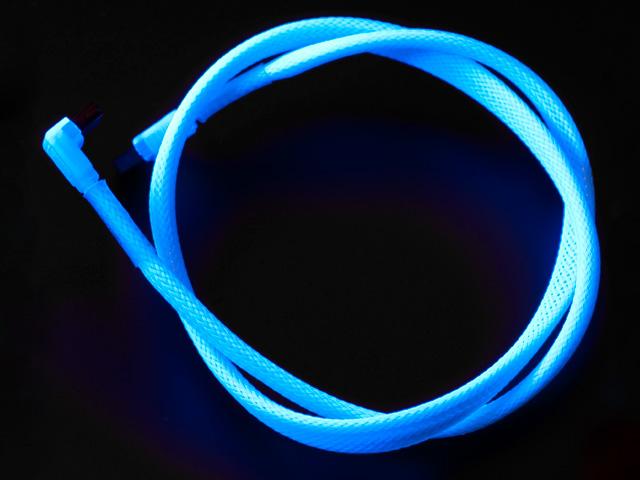 Флуоресцентный SATA кабель Vizo синего цвета