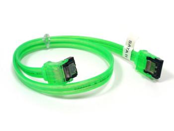 SATA   II  Флуоресцентный кабель зеленого цвета