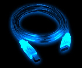 Кабель USB 2 0 LED с синей подсветкой  длина 2 м  экранированный  A B