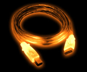 Кабель USB с оранжевой подсветкой  длина 2 м  экранированный  A B