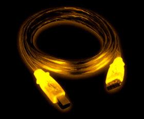 Кабель GEMBIRD USB2 0 с желтой подсветкой  длина 1 8 м  экранированный  A В