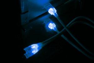 Кабель Vizo USB 2 0 LED UV  синий с подсветкой  длина 2 м   A B
