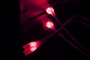 Кабель  Vizo USB 2 0 LED UV   красный с подсветкой  длина 2 м   A B