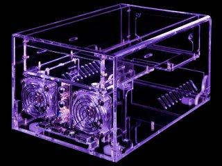 Прозрачный акриловый UV корпус Sunbeam Mini ITX  ACMI HUVB