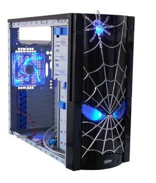 Моддинг корпус JCP Spider  черный  с пауком термосенсором