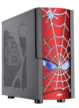 Моддинг корпус JCP Spider  красный  с пауком термосенсором