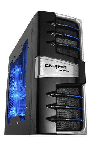 Игровой моддинг корпус NOX Calypso  ATX MidiTower  черный с метал   бок  окно