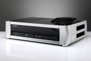 Корпус  Tsunami MJR2S  серебристо черный  300 ватт   mATX   ITX