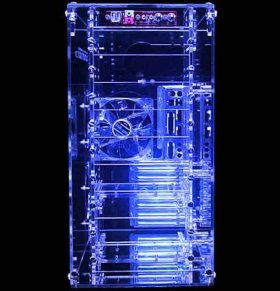 Прозрачный акриловый UV корпус  Sunbeam AC9B HUVB   с 9 ю  5 25    отсеками