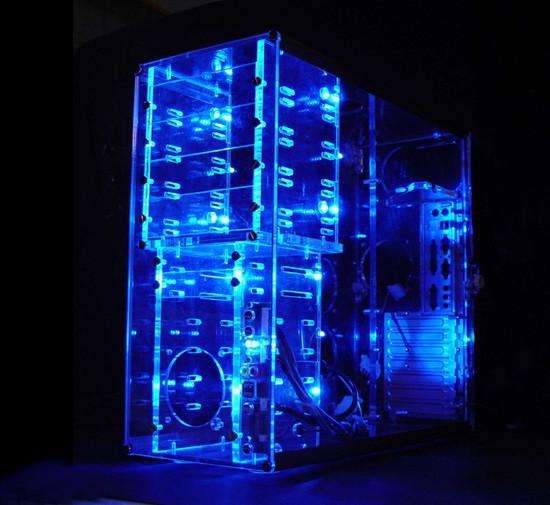 Прозрачный акриловый корпус Sunbeam LAC BT с синей светодиодной подсветкой