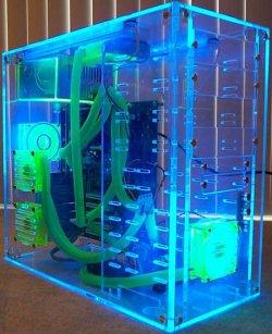 Прозрачный акриловый UV корпус PCdesign