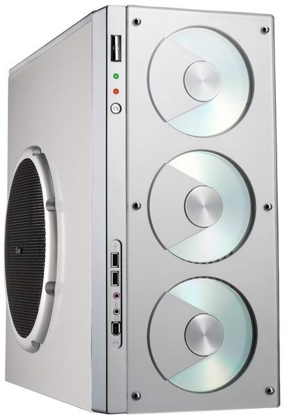 Корпус DJ Dream silver 024 25 серебристый с боковым вентиляционным отверстием