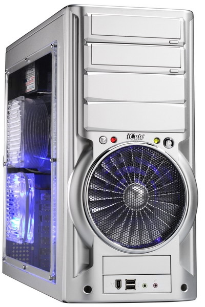 Корпус Ice Tube II silver 0508 серебристый с 140мм турбиной и окном