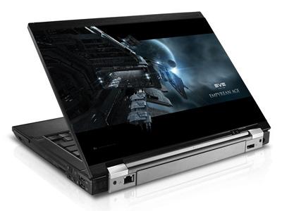 Наклейка на ноутбук     Eve online  420 x 279 мм  глянц