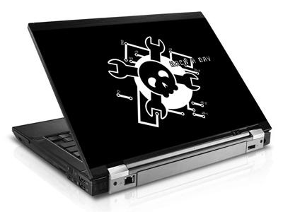 Наклейка на ноутбук     Hack a day   420 x 279 мм  глянц
