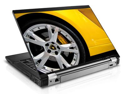 Наклейка на ноутбук     Lamborghini wheel   420 x 279 мм  глянц