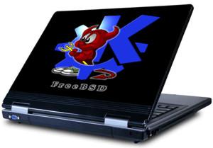Наклейка на ноутбук   UNIX  381 x 356 мм  глянц