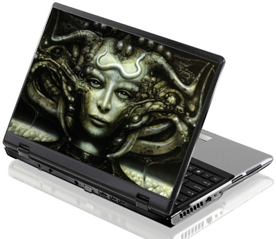 Наклейка на ноутбук     L I H R Giger  380 x 260 мм  глянц
